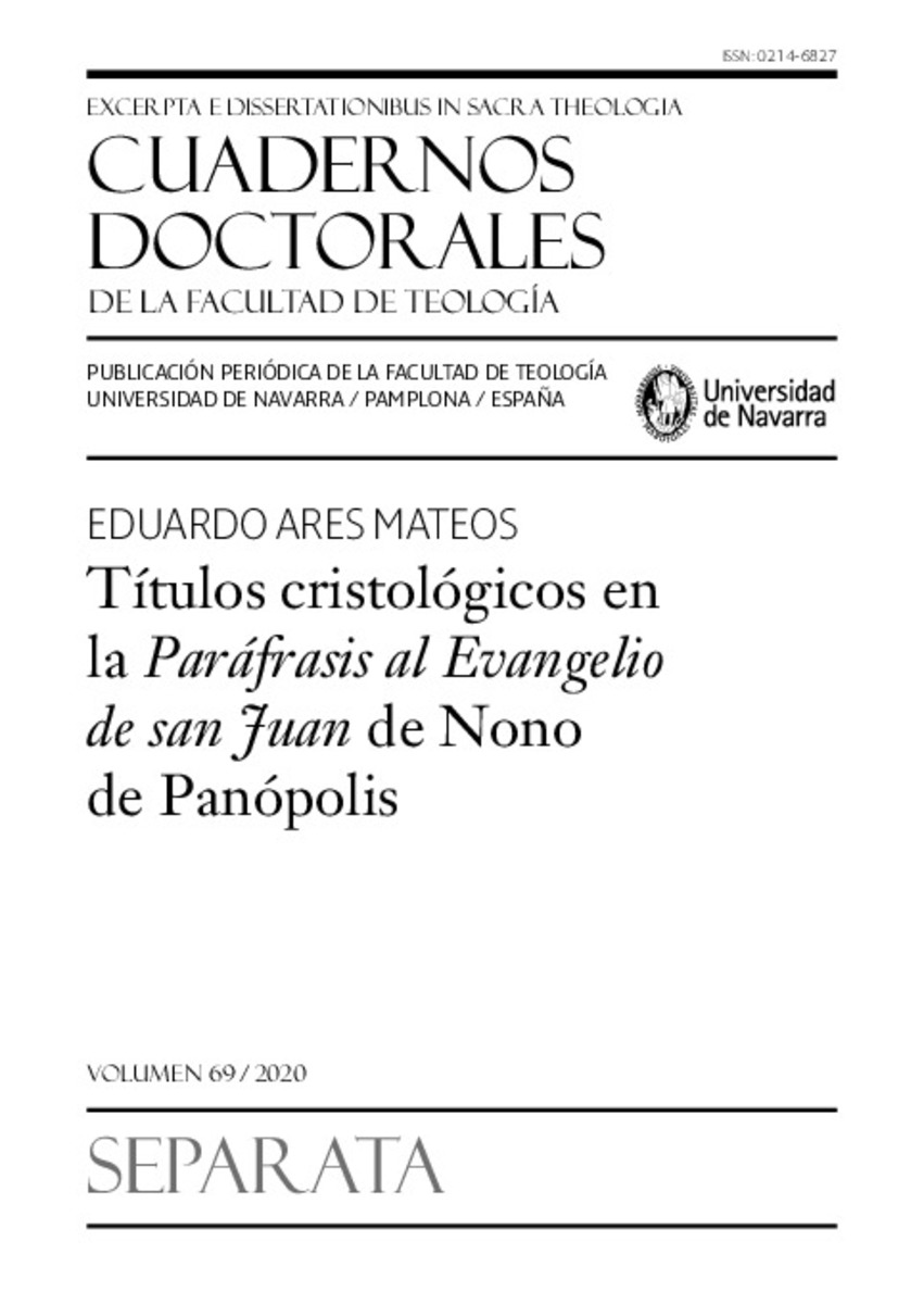 Cuadernos Doctorales Separata